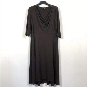 Eileen Fisher Cowl Neck Jersey Dress Rayon Stretch